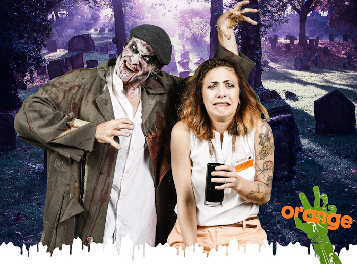Zombie photo booth