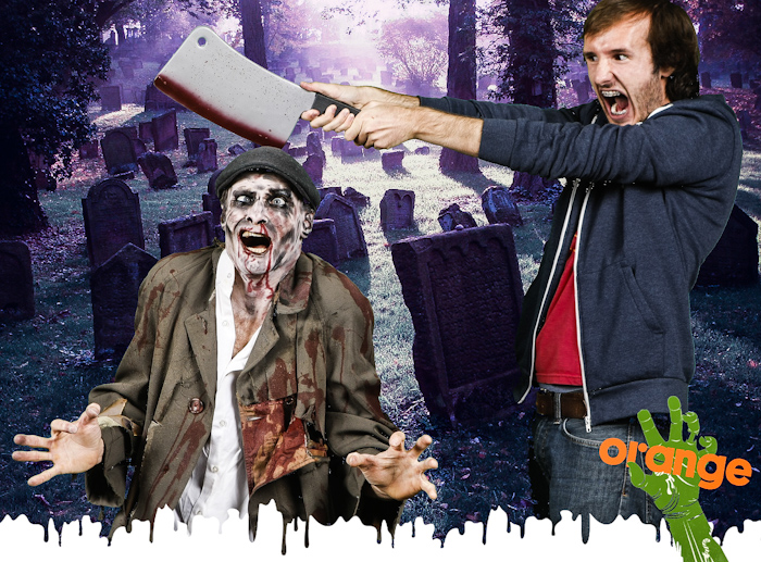 zombie apocalypse photo booth green screen