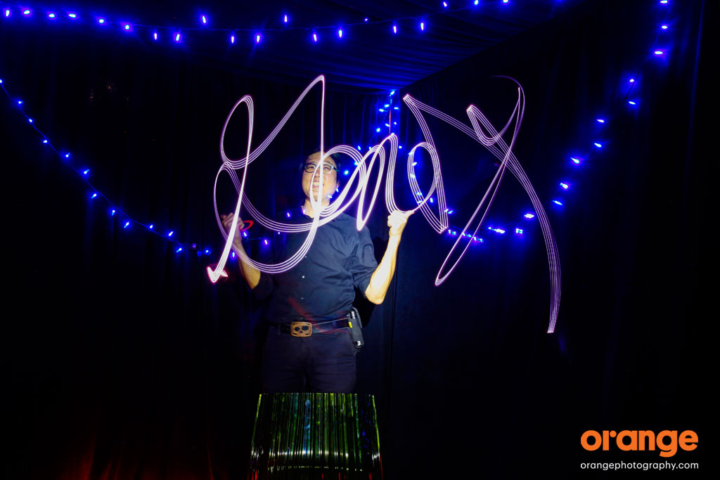 Light painting photography - how to write out words