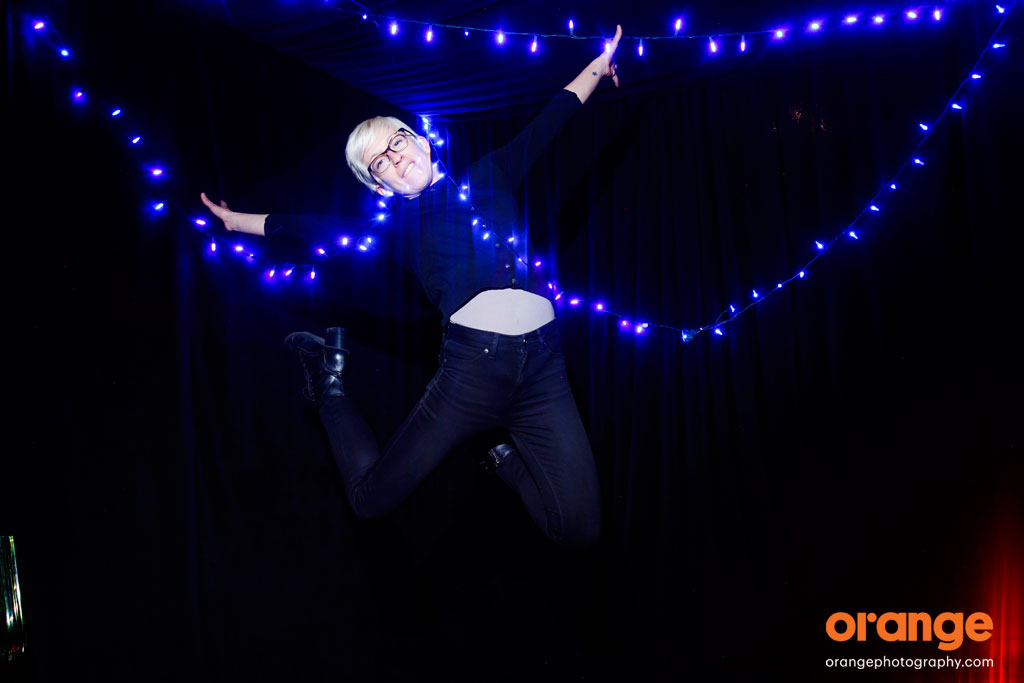 Light painting photography - photo booth jumping