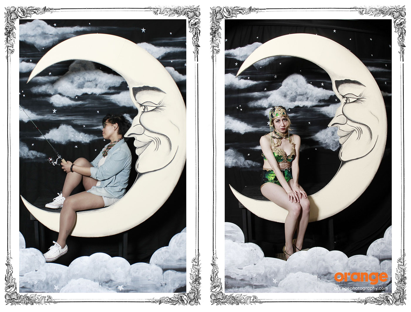 Paper Moon photo booth rental by orange photography